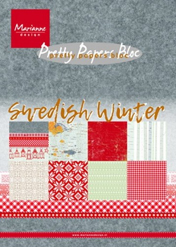 Pretty papers bloc Swedish winter