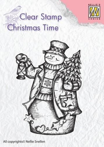 Clearstamp Christmas Time: Snowman with lantern