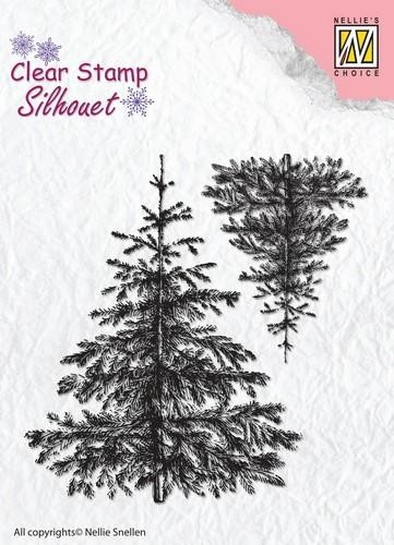 Clearstamp Silhouet: Christmas Fir-tree