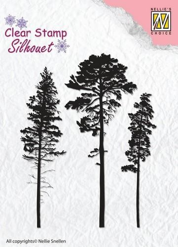 Clearstamp Silhouet: 3 Pinetrees