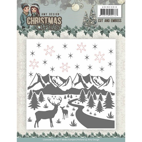 Christmas Wishes: Embossing folder + snijden
