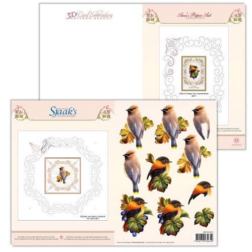 3D Card Embroidery sheet #23 with Ann & Sjaak