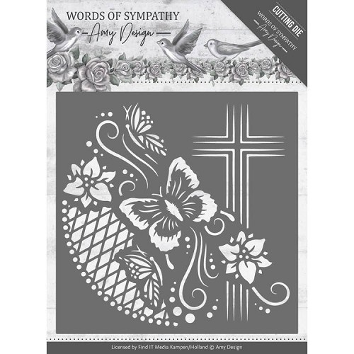 Words of Sympathy: Cross Frame