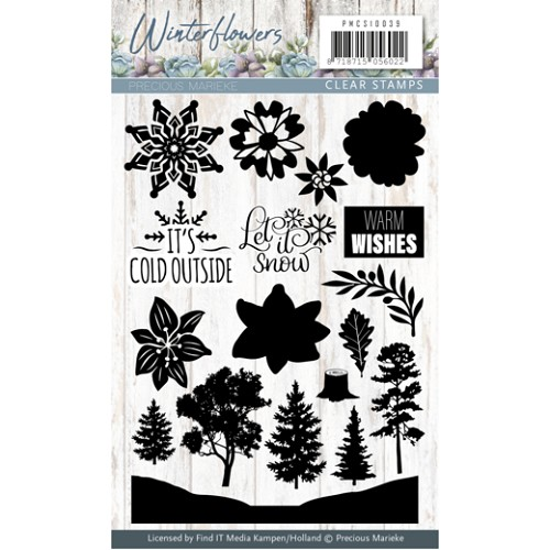 Winterflowers: Clearstamp
