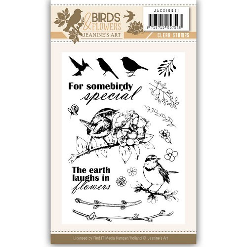 Birds & Flowers: Clear Stamp