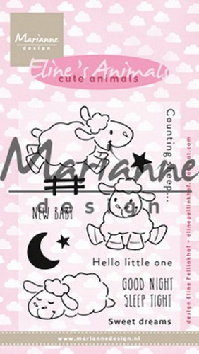 Clearstamp: Eline`s cute animals sheep