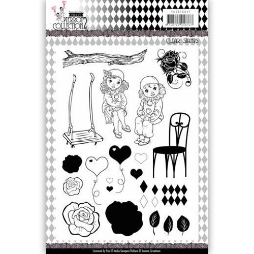 Pretty Pierrot 2 - Clearstamp