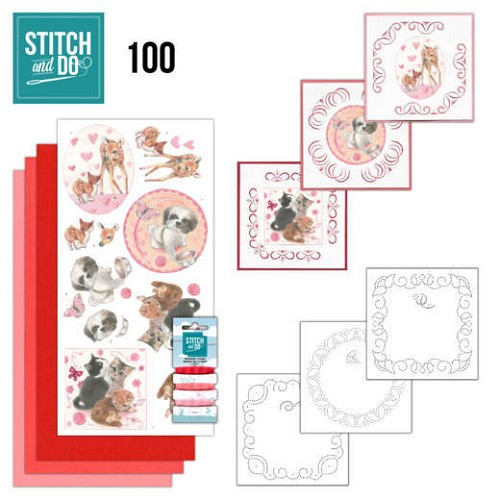 Stitch and do 100: Playful Pets