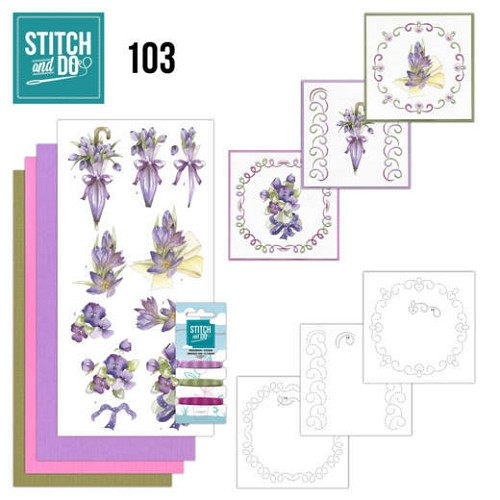 Stitch and do 103: Paarse bloemen