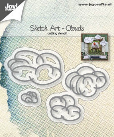 Joy Crafts Mal: Sketch art wolken