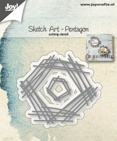 Joy Crafts Mal: Sketch art pentagon