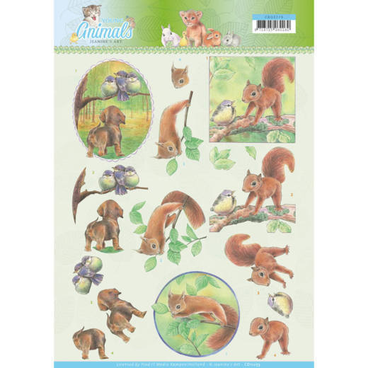 Jeanine's Art: Young animals in the forest