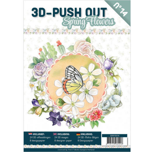 3D Push-Out: Spring flowers