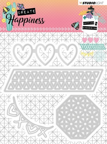 Studio Light Embossing Die 104x107 mm Create Happiness nr.158