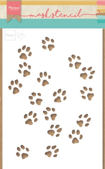 Craft Stencil:: Tiny's cat paws
