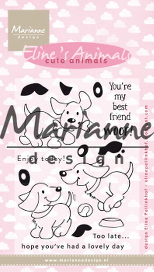 Clearstamp: Eline's cute puppies ( Pre-Order)