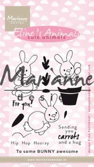 Clearstamp: Eline's cute bunnies ( Pre-Order)