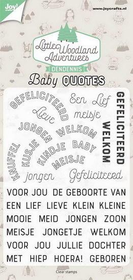 Joy Crafts: Stempel LWA baby quotes