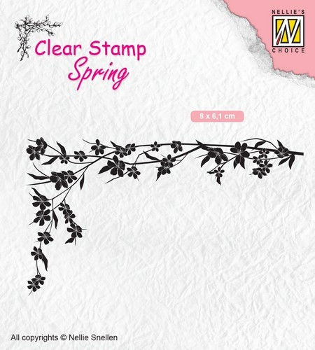 Clearstamp Spring: Bloemenhoek