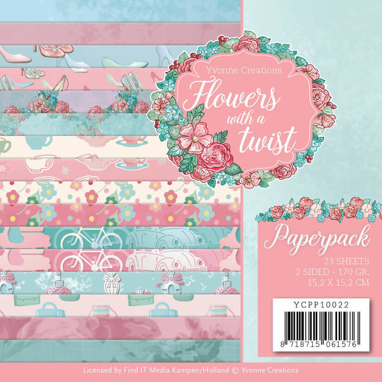 Yvonne Creations - Flowers with a twist: Paperpack
