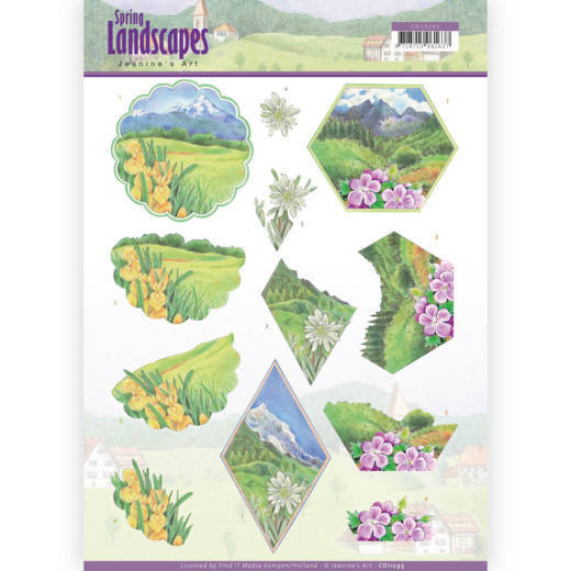 Jeanine's Art: Spring landscapes Mountains