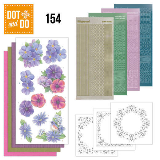 Dot & Do 154: Purple Flowers