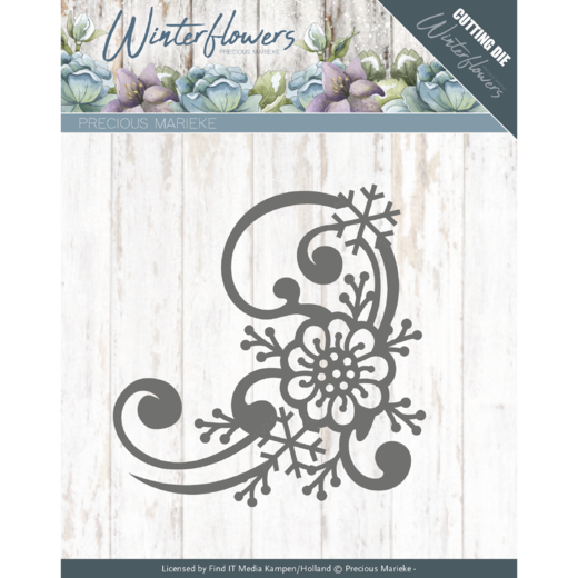 Precious Marieke: Winterflowers; Snowflake flower border