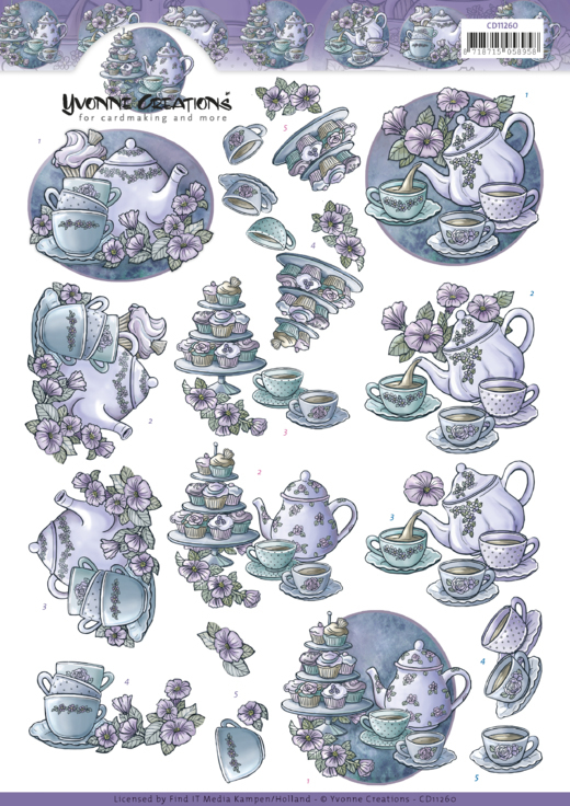 Teapot in purple