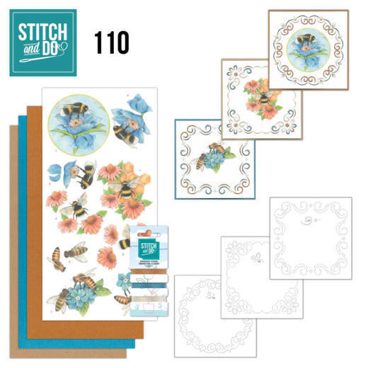 Stitch and do 110: Bees and flowers
