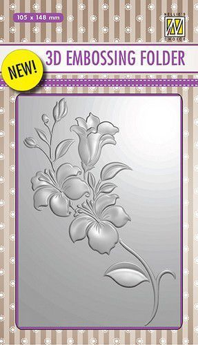 3D Embossing Folder: Branch with flowers