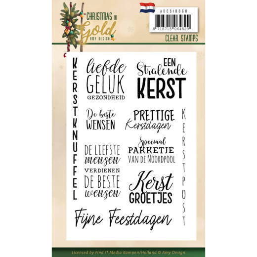 Christmas in Gold: Clearstamp Text NL