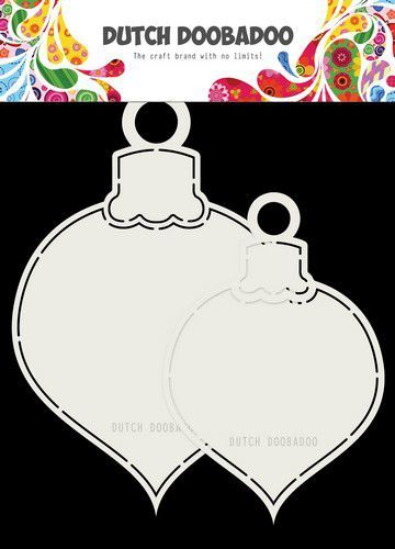 Dutch Shape art: 2x Kerstballen max 13x19 cm