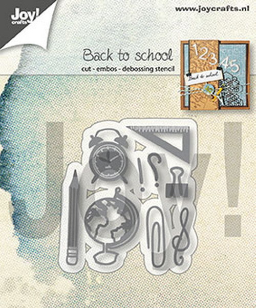 Joy Crafts: Snij-embos-debosstencil Back to school ( PRE-ORDER)