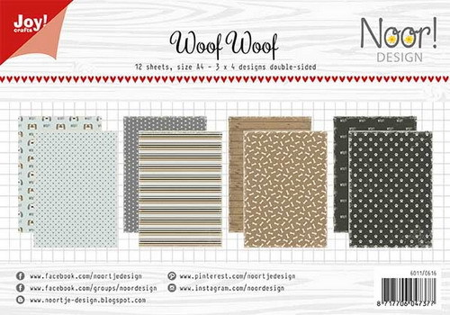 Joy Crafts: Papierset- Noor design- WoofWoof ( PRE-ORDER)