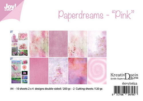 Joy Crafts: Papierset- Billie- Paperdreams Pink ( PRE-ORDER)