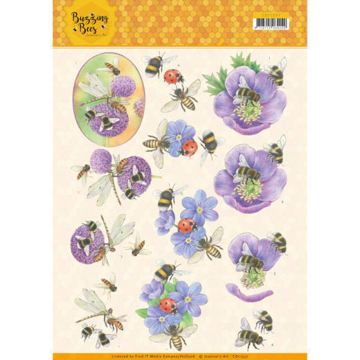 Buzzing Bees: Purple Flowers