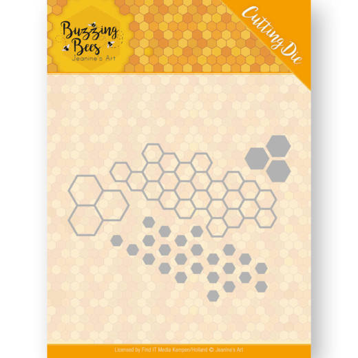 Buzzing Bees cutting die: Hexagon set