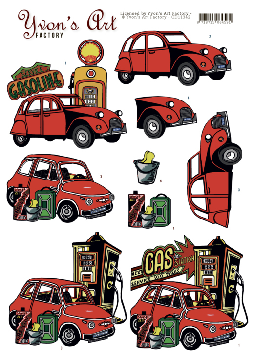 Yvon's Art: Red Cars