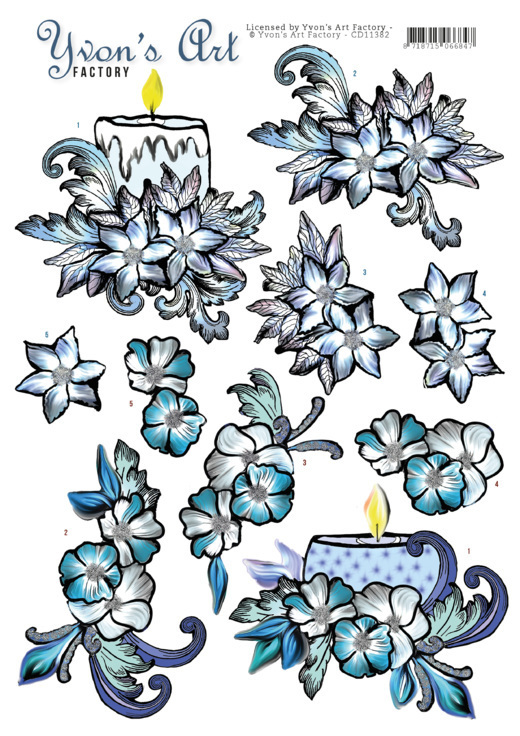 Yvon's Art: Blue Candles