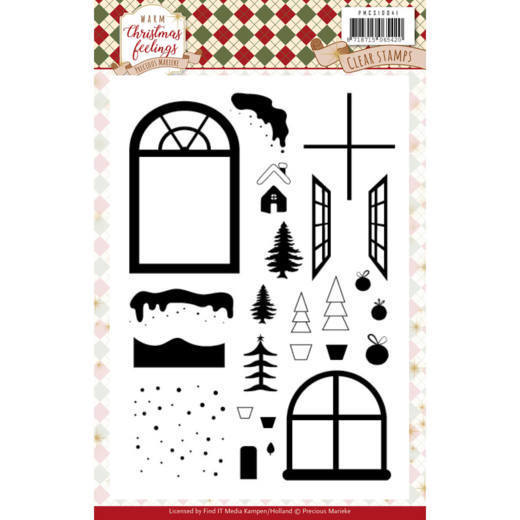 Warm Christmas feelings: clearstamp