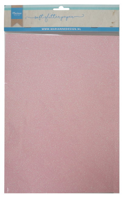 Soft glitter paper Light Pink