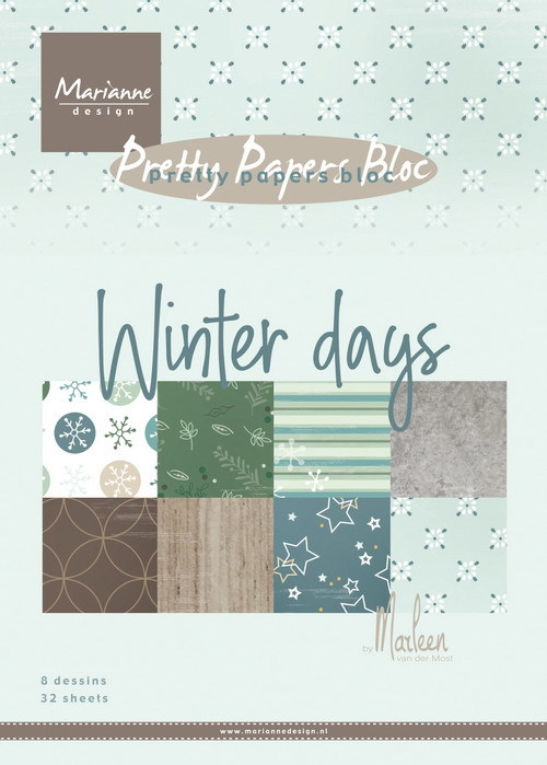 Pretty papers bloc: Winter Days by Marleen