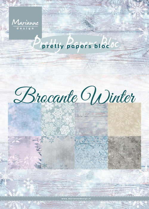 Pretty papers bloc: Brocante Winter