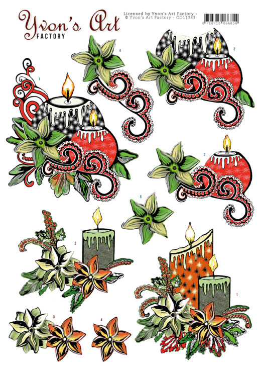 Yvon's Art: Christmas Candles