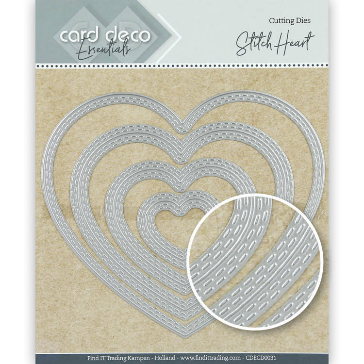 Card Deco Essentials: Stitch heart
