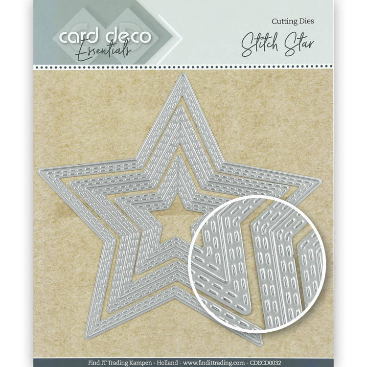 Card Deco Essentials: Stitch star