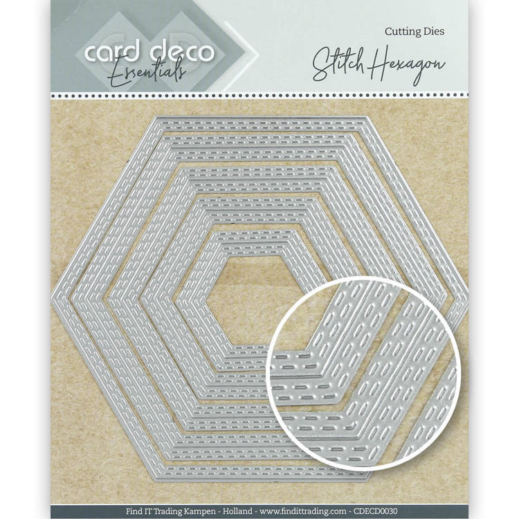 Card Deco Essentials: Stitch hexagon