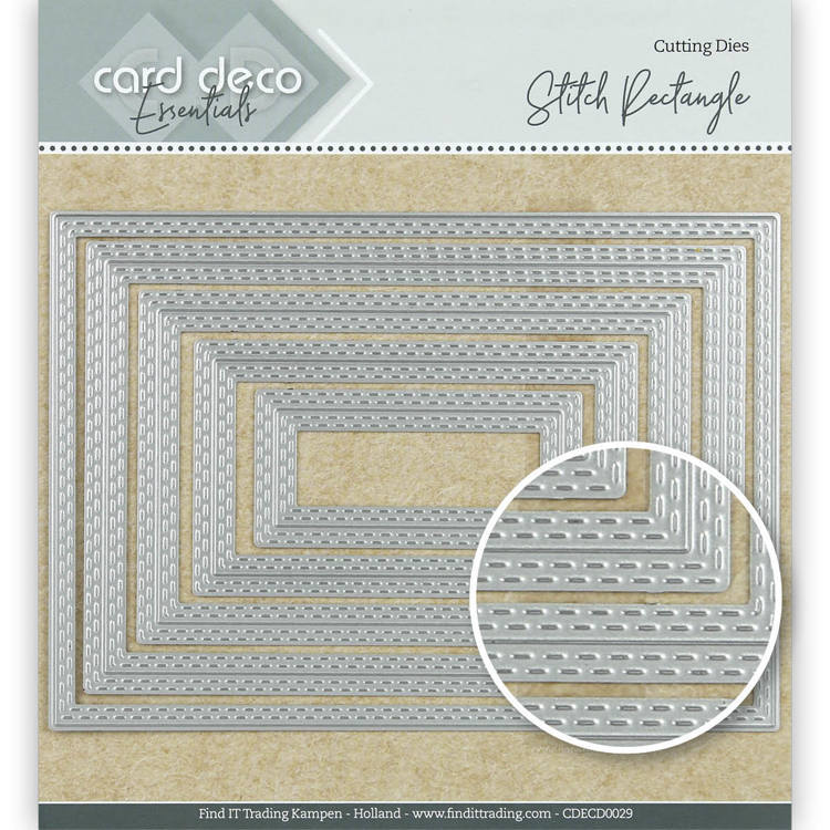 Card Deco Essentials: Stitch rectangle
