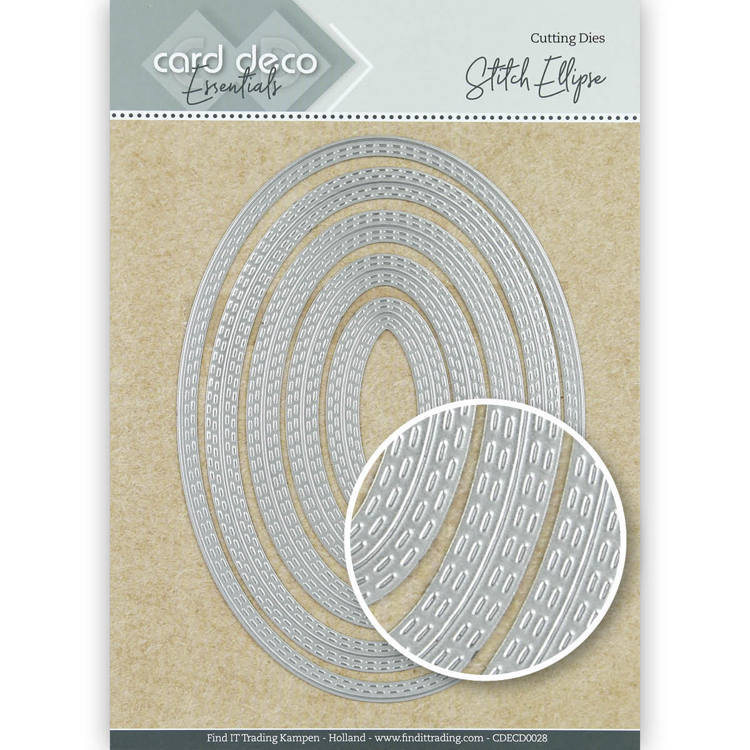 Card Deco Essentials: Stitch ellipse