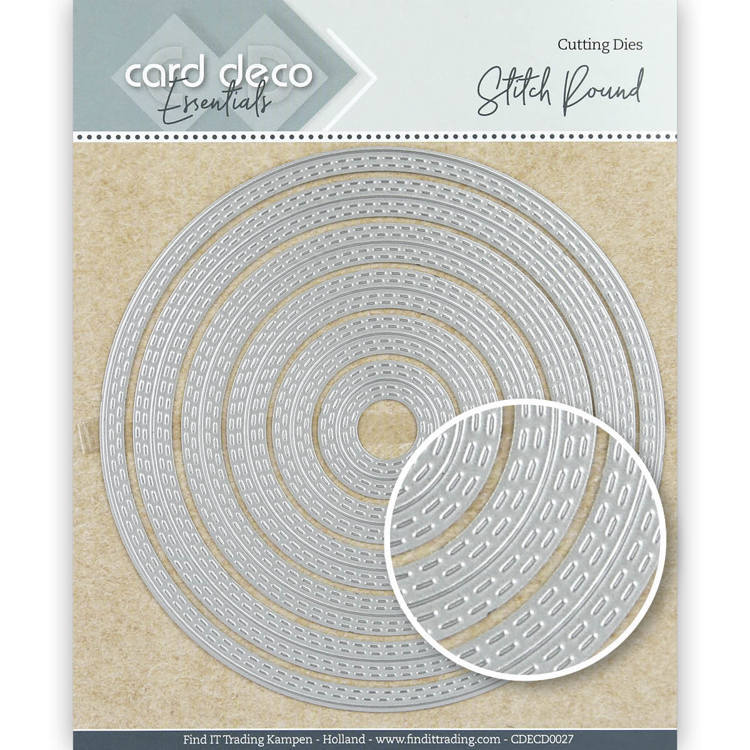 Card Deco Essentials: Stitch round